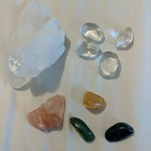 Bundle Crystals Stones Quartz Rose Citrine Healing